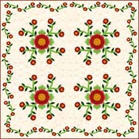 rose quilt applique