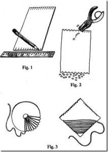 cardboard loom drawing