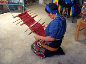 weaving huipil