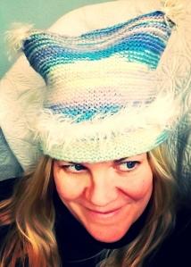 diane in eleni's hat