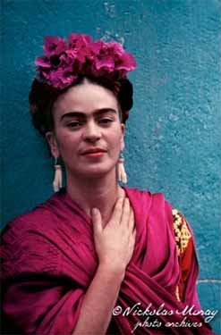 Frida Kahlo wearing Picasso earrings