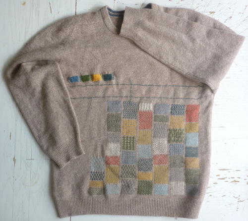 mended sweater
