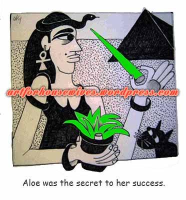 Cleopatra and Aloe Vera by Cynthia Korzekwa