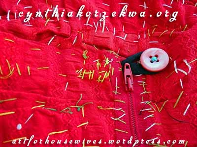Muy Marcottage Rouge button by Cynthia Korzekwa