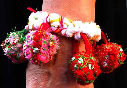 Basorexia fabric charm bracelet
