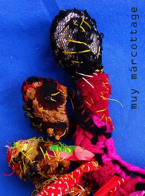 je suis muy wild fabric bracelet