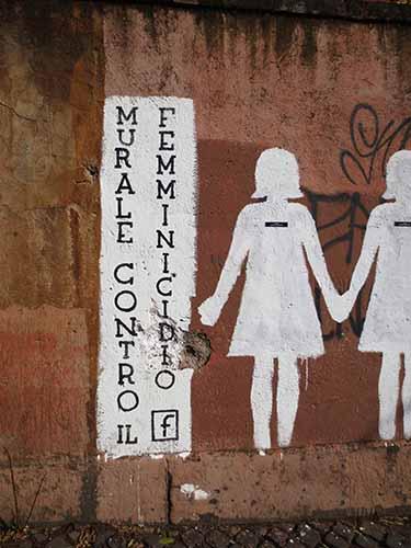 murale contro il femminicido