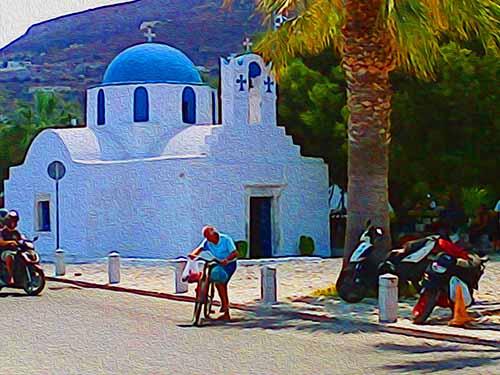 farmer's market, Paros