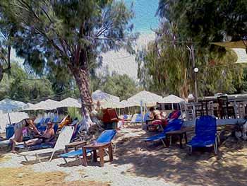 Camping at Krios beach