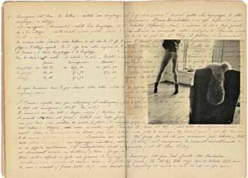 Francesca Woodman's notebook