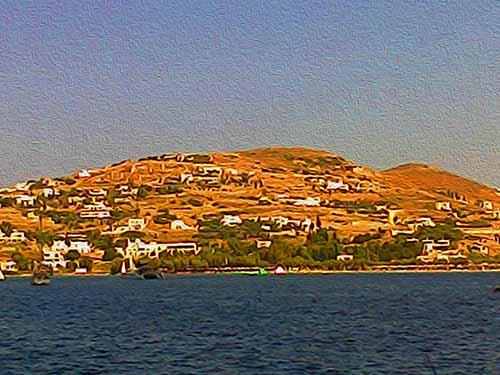 Livadia from afar, Paros