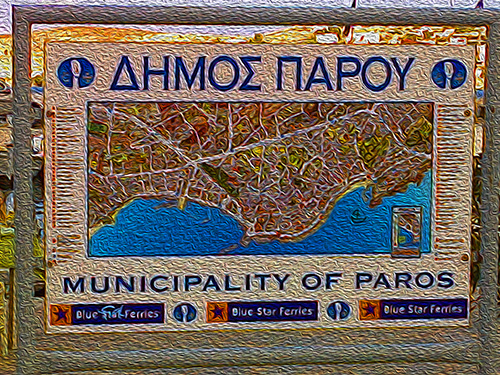 map of Paros
