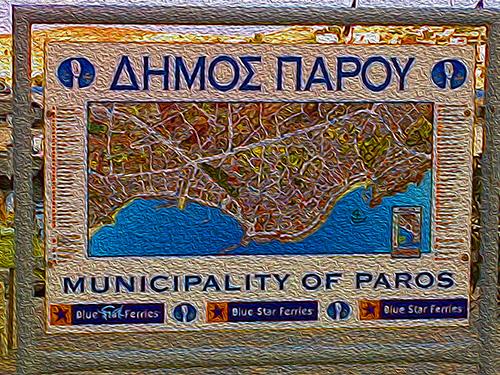 map of Paros