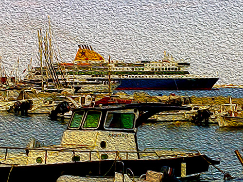Blue Star, another departure from Paros