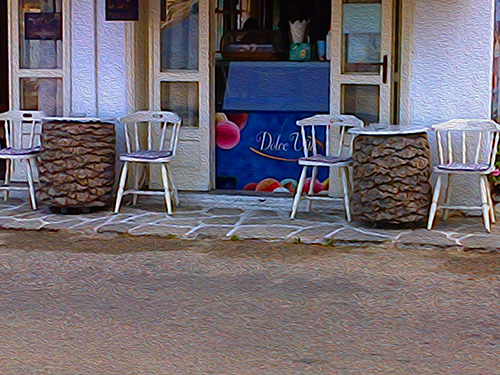 palm tables at Livadia