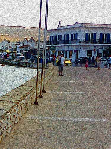 past port. Paros