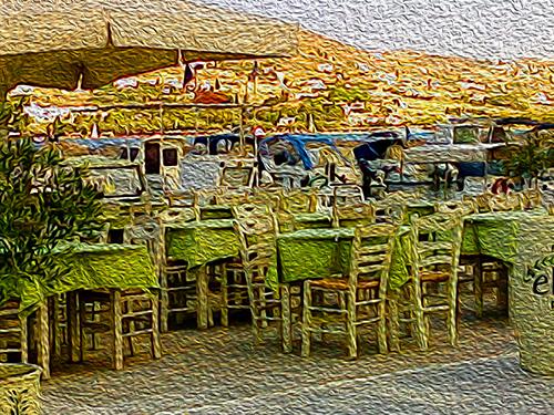 taverna at Livadia, Paros