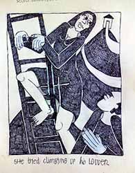 """the ladder"" drawing by cynthia korzekwa"