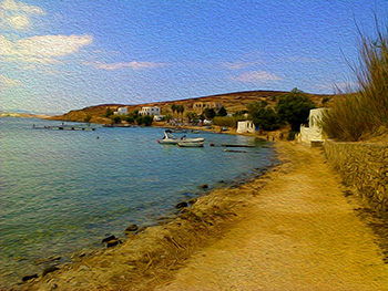 towards Blu Lounge, Paros