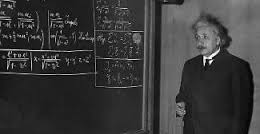 Einstein at his chalkboard