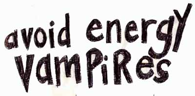 avoid energy vampires