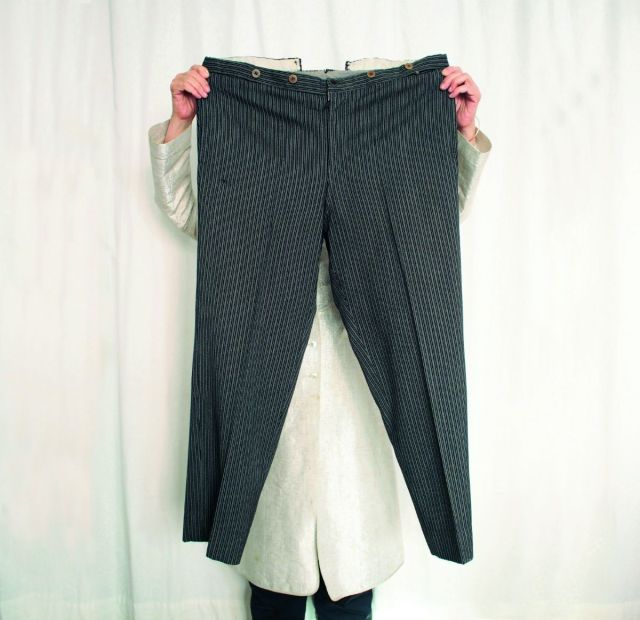 Maira Kalman with Toscanini's pants.