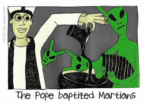 The Pope Baptizing Martians