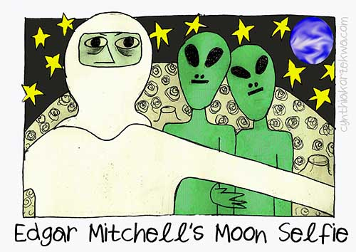 Edgar Mitchell Moon Selfie