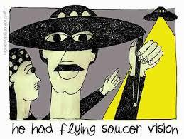 flying saucer vision