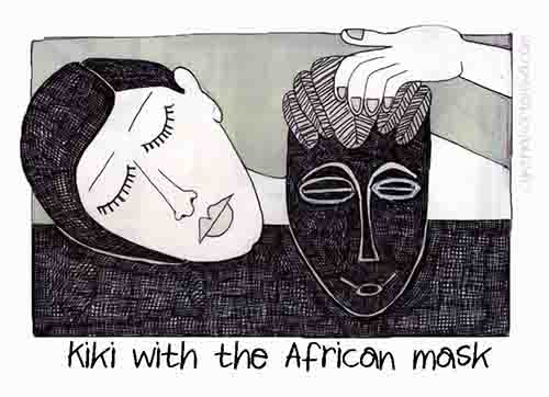 Kiki With African Mask