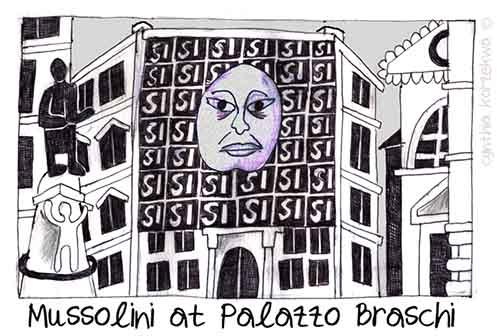 Palazzo Braschi, Mussolini's Headquarters
