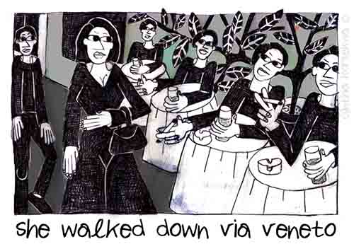 She Walked Down Via Veneto