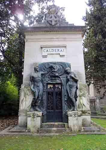 Cappella Calerai, Verano Cemetery