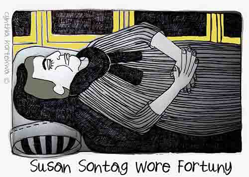 Susan Sontag Wore Fortuny