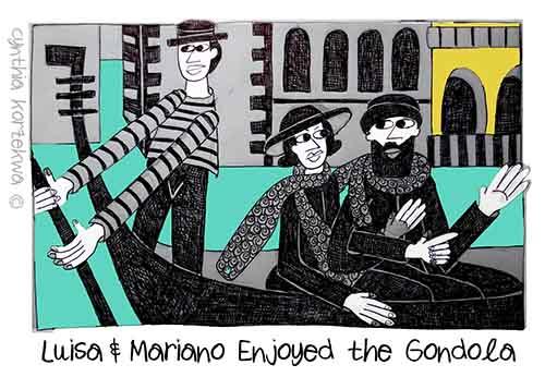 Luisa & Mariano Enjoyed the Gondola