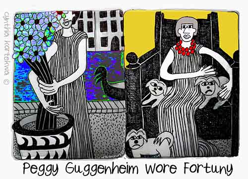 Peggy Guggenheim Wore Fortuny