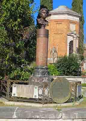Mariano Fortuny, Verano Cemetery