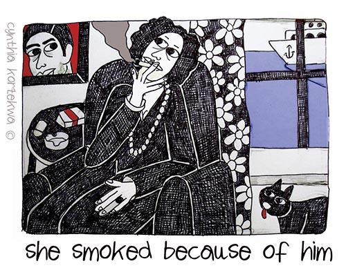 Claudia Muzio Smokes