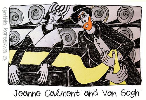 Jeanne Calment & Vincent Van Gogh