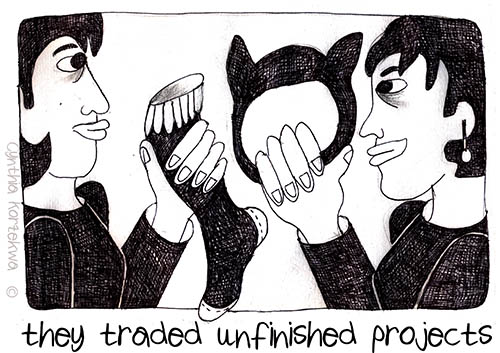 they traded unfinished projects