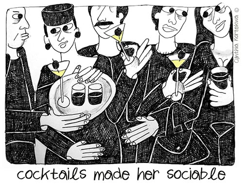 cocktails made her sociable