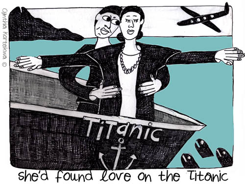 she'd found love on the Titanic