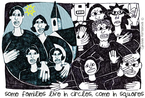 some families live in circles, come in squares