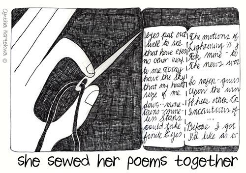 she sewed poems together