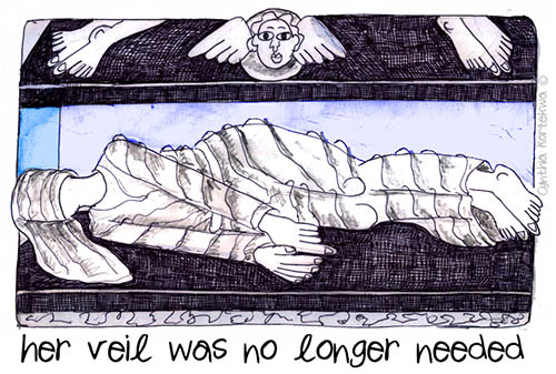 she no longer needed a veil