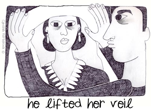 he lifted her veil