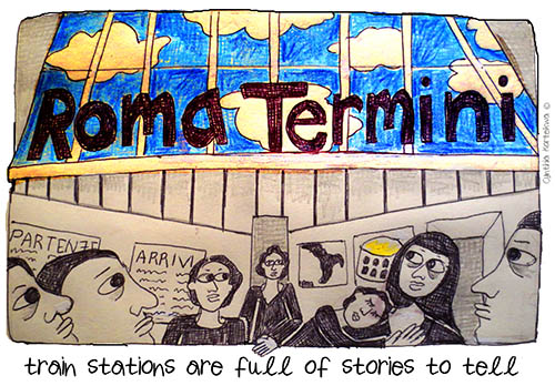 train stations are full of stories to tell