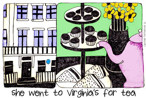 she went to Virginia's for tea
