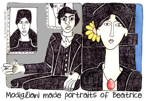 Modigliani made portraits of Beatrice