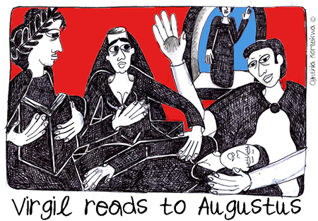 Virgil reads to Augustus